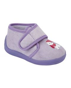 Whiskers Touch Fastening Cat Bootee Slipper