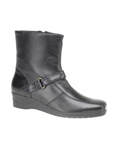Super Softie Leather Inside Zip Ankle Boot
