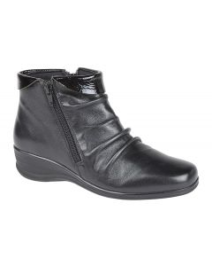 Twin Zip Ruched Ankle Boot
