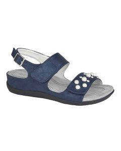 Twin Touch Fastening Jewelled Sandal
