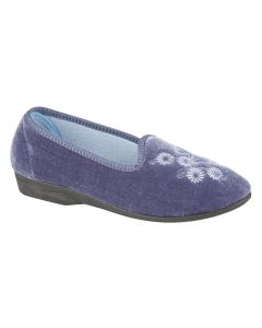 Cathy Ladies Embroidered Slipper