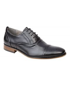 Capped Lace Oxford Brogue Shoe