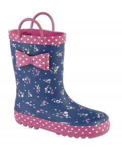 Bow Trim Pull On Toddler Wellington Boot