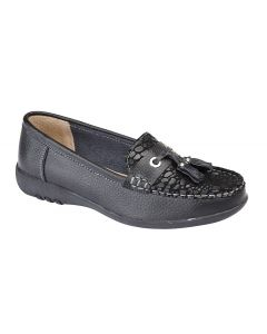 Wide Fitting Apron Tassle Casual Shoe