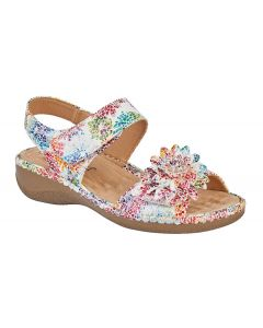 Floral Twin Touch Fastening Sandal