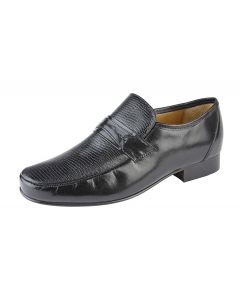 Reptile Print Concealed Gusset Casual Shoe